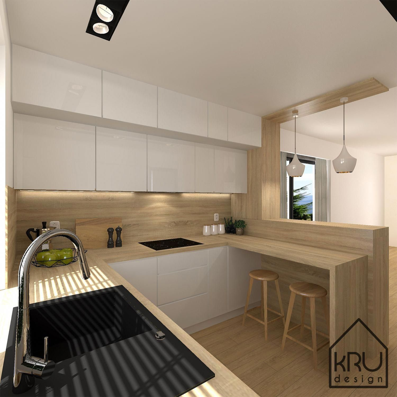 Zakres projektu: kuchnia KRU Design #contemporarykitchen in 17