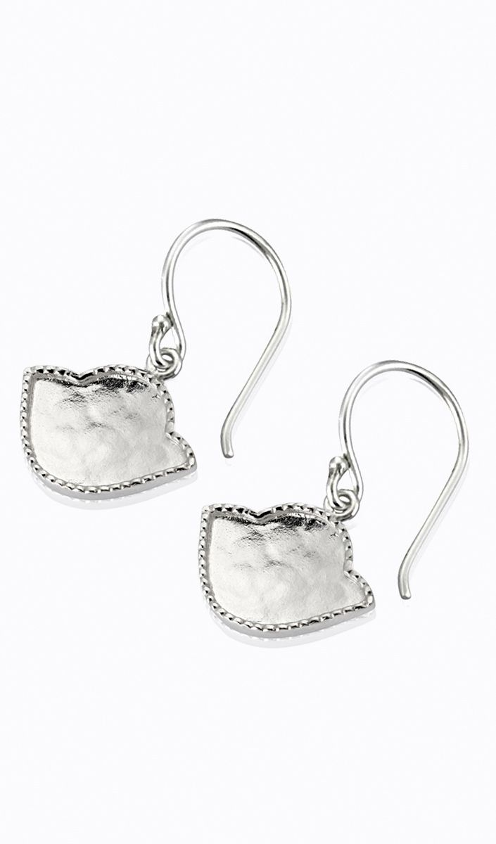 Legend Amrapali Karana Lotus Earring In Sterling Silver Extra
