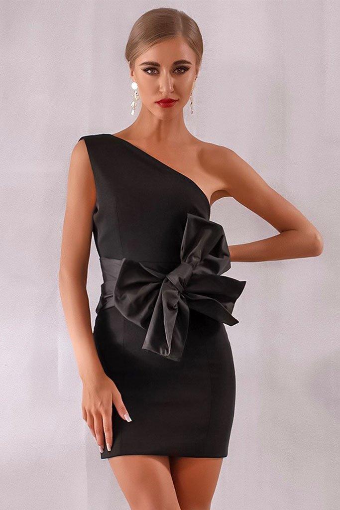 2cdc83bc324e Elegant One Shoulder Asymmetrical Dress I ANIIIQA.COM   LBD lil ...