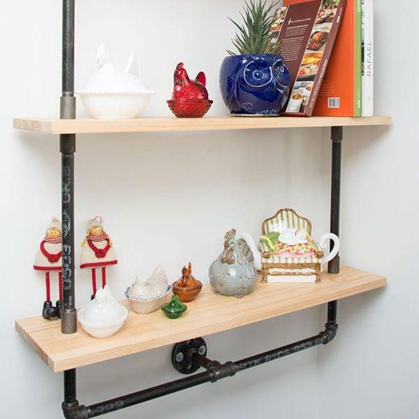 Promos decoracion industrial mueble de pared by quimera for Mueble de pared industrial