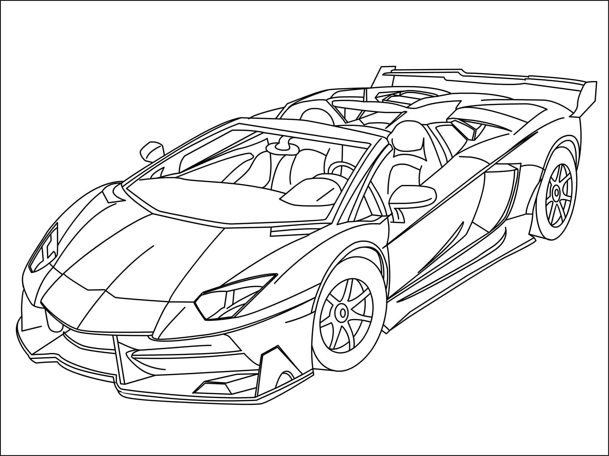 Lamborghini Ausmalbilder