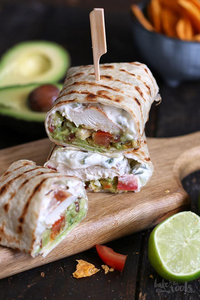 Photo of Guacamole Chicken Wraps | Bake to the roots