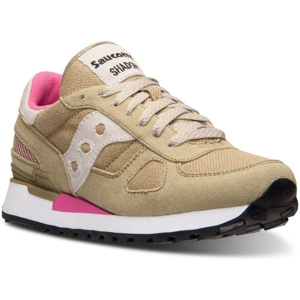 Saucony Women's Shadow Vegan Casual Sneakers from Finish Line ($40) ❤ liked  on Polyvore
