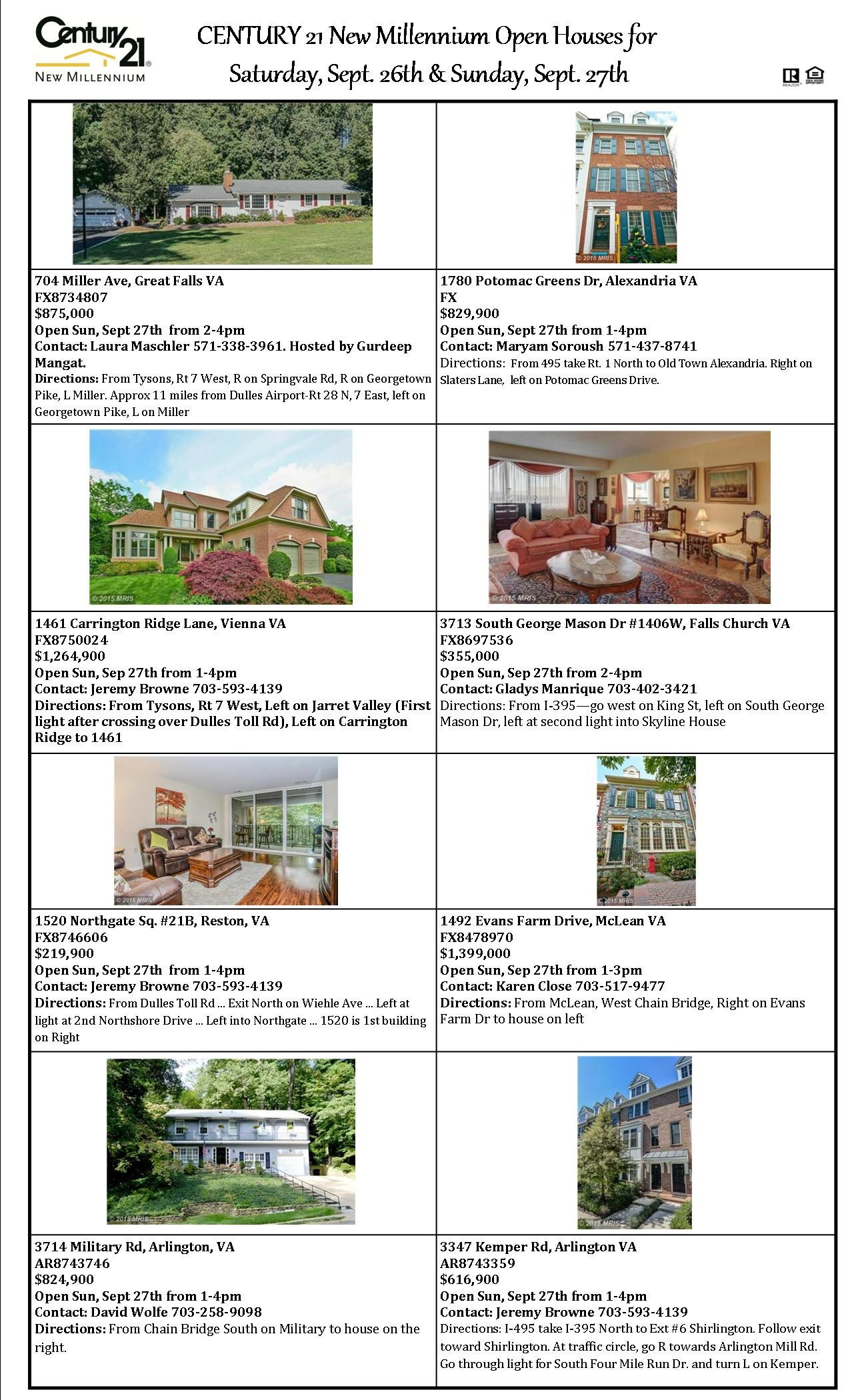 Check out our open houses this weekend!