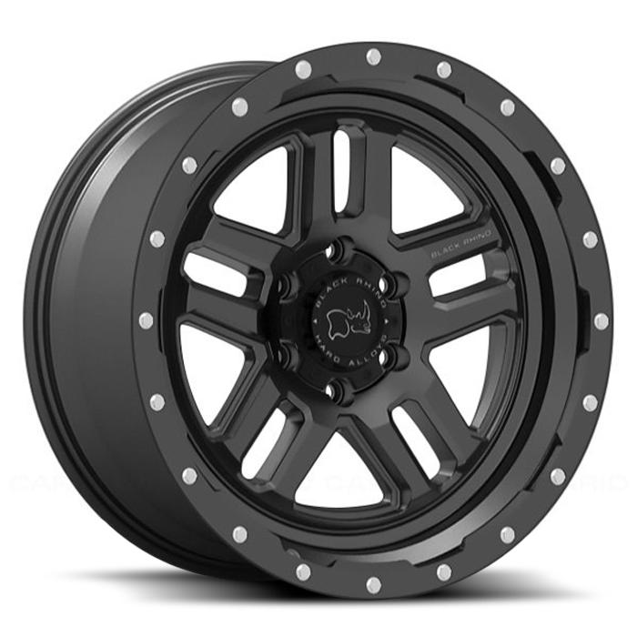 Black Rhino Barstow Textured Matte Black Black Rhino Wheels Black Wheels Wheel