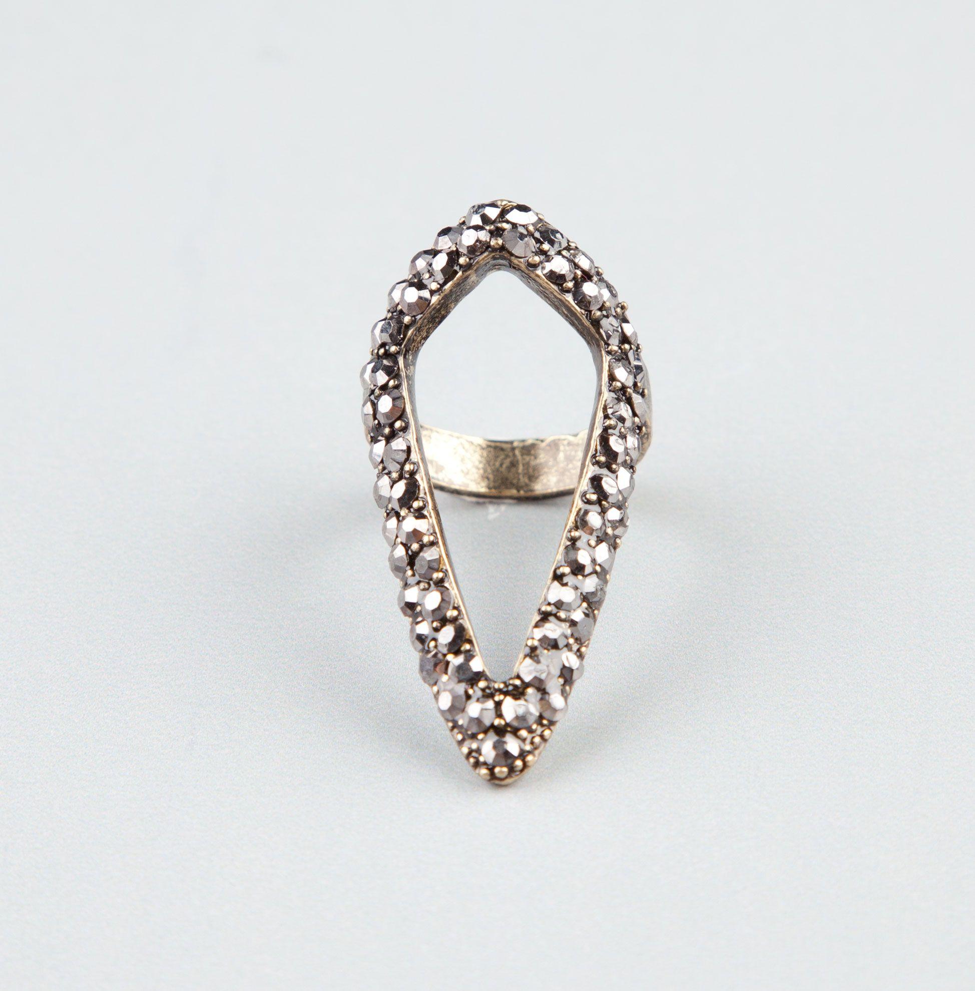 Full tilt diamond shape cut out ring rings tillys