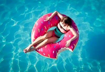 A dounat in a pool? Lol