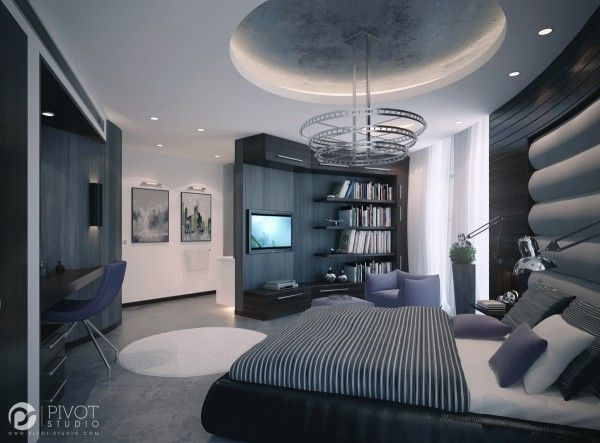 Luxurious Room Schemes Futuristic Bedroom Apartment