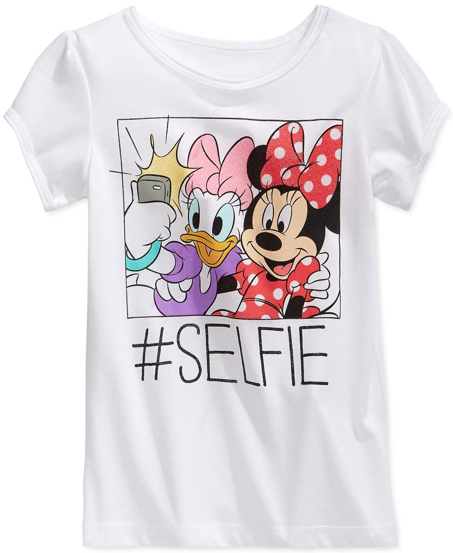 052129598 Mighty Fine Little Girls' Minnie Mouse & Daisy Selfie Tee ...