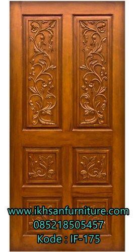 Jual Pintu  Rumah Ukiran Emas Mewah Model Pintu  Rumah