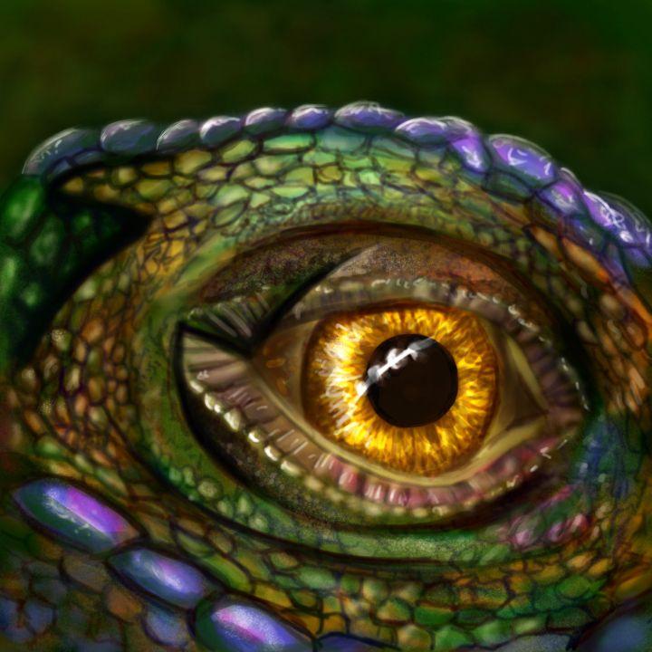 iguana eye painting - photo #30