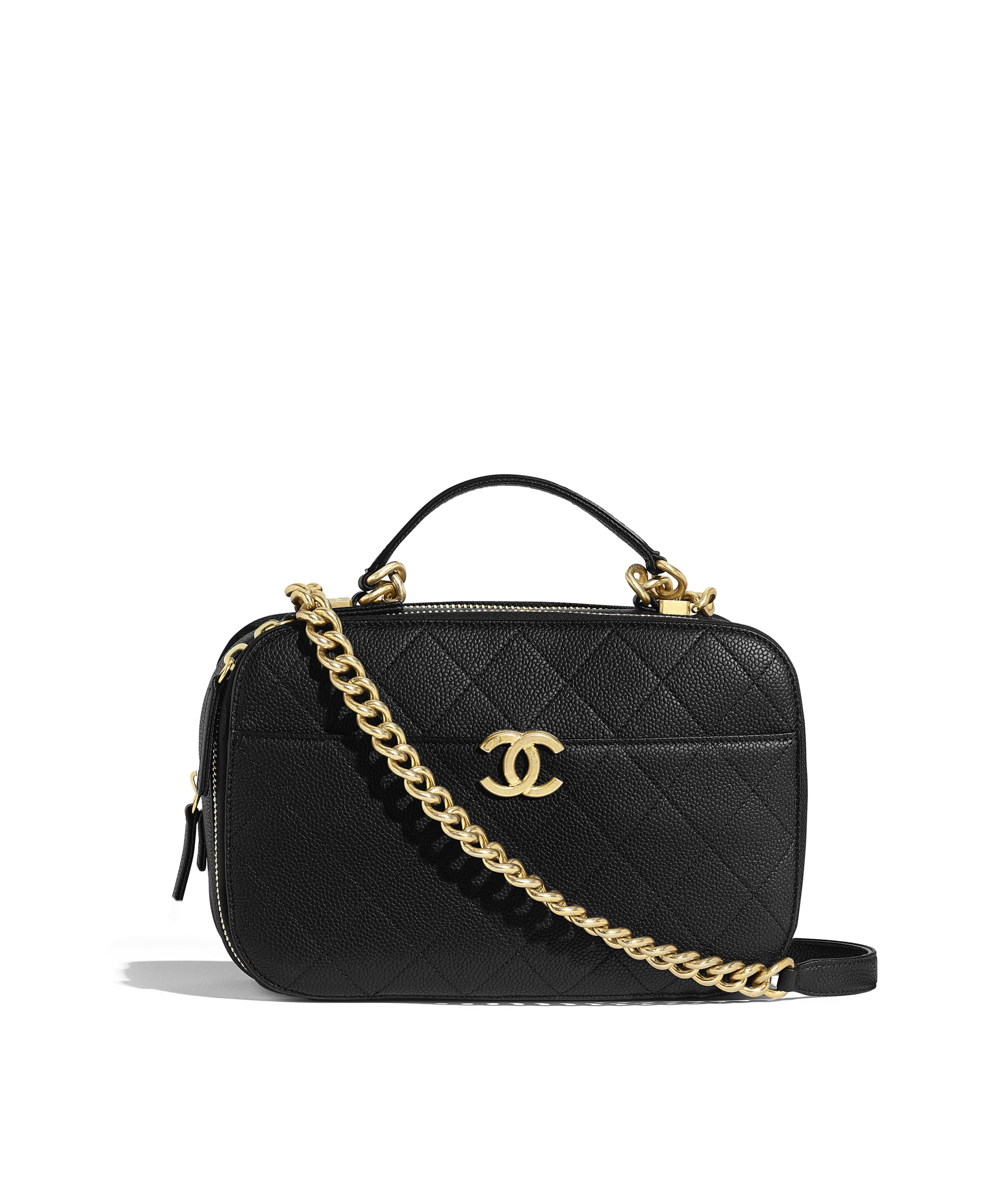 3a6c4be04353 Grained Calfskin & Gold-Tone Metal White Flap Bag in 2019 | Chanel ...