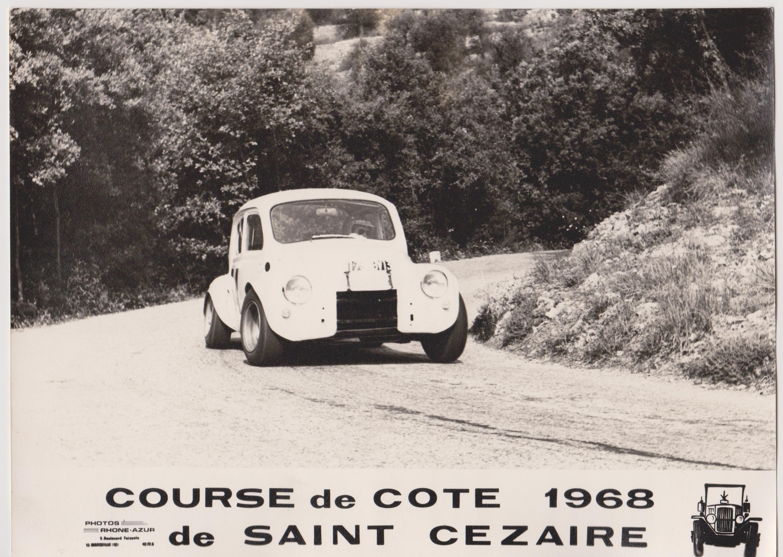 albert perrichon Renault, Voiture, Course de cote