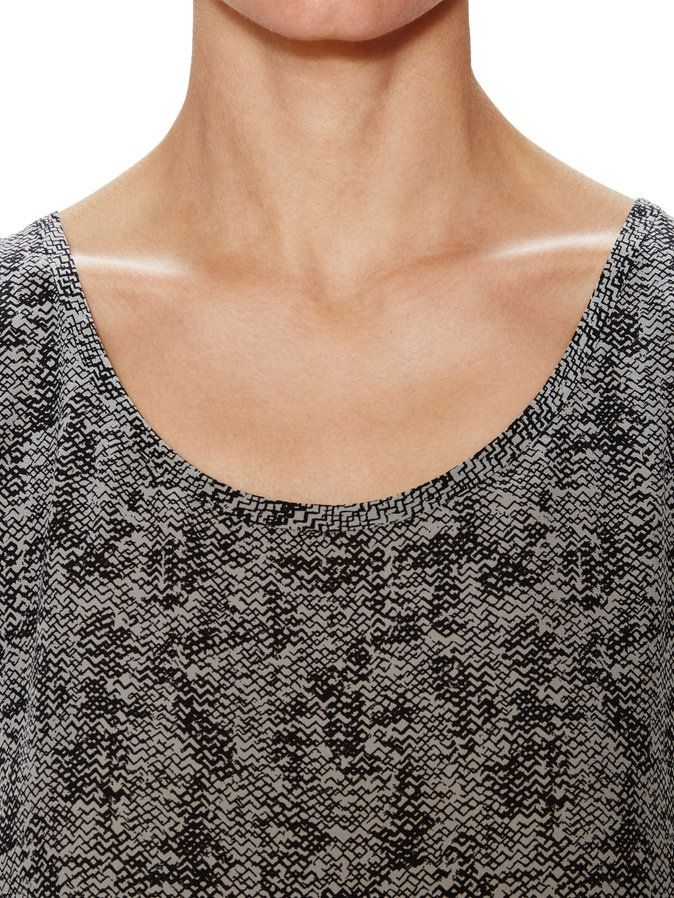 Printed Silk Shell by Eileen Fisher at Gilt