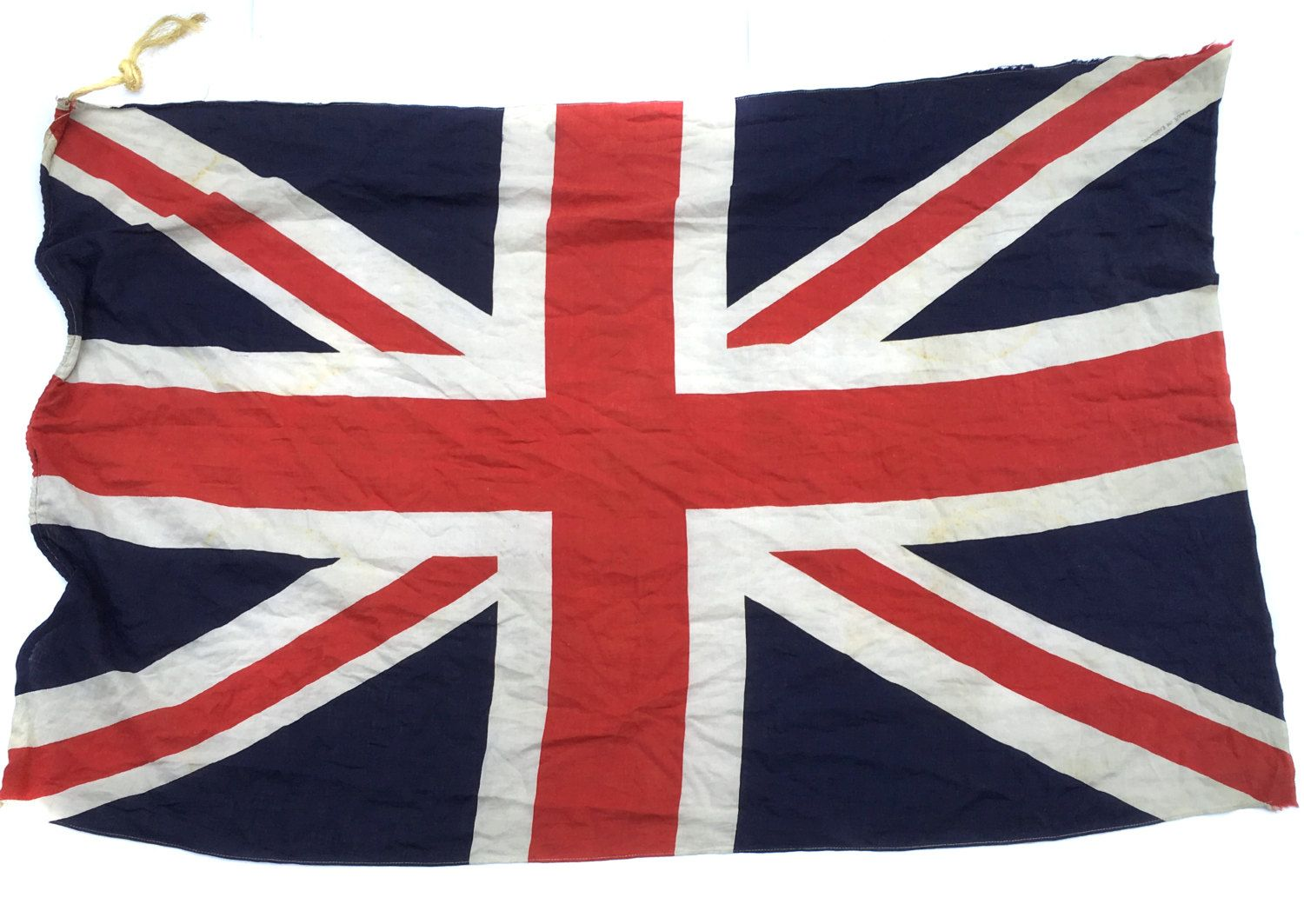 6145294a5a1f 1940s British Cloth Military Union Jack Made in England Vintage Flag WWII Union  Jack World War II Flag Antique Flag by BiminiCricket on Etsy