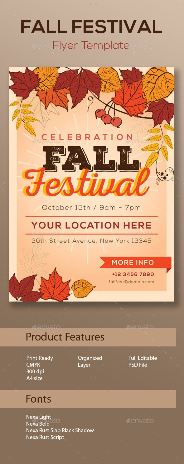 fall festival flyer template discover best ideas about flyer template. Black Bedroom Furniture Sets. Home Design Ideas