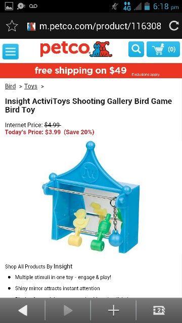 Insight Activetoys Shooting Gallery Bird Game Toy Bird Toys Petco Internet Prices