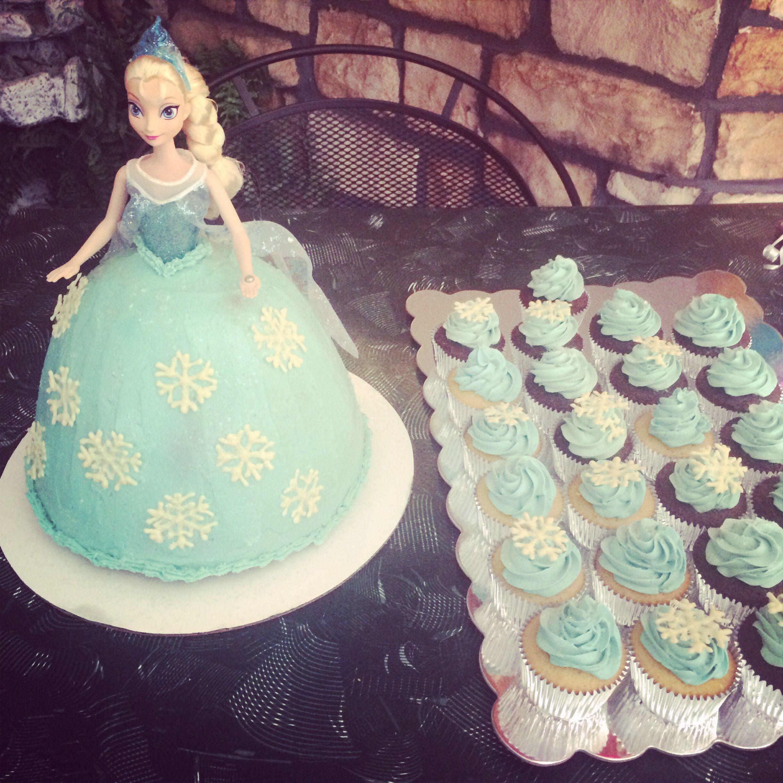 Elsa Doll Cake Design : Elsa doll cake. Party Ideas Pinterest Elsa doll cake ...