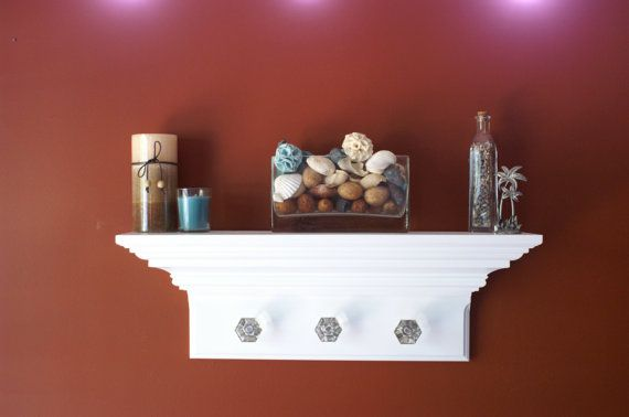 24 Crown Molding Entryway Floating Wall Shelf with by Shoreshelves, $89.95