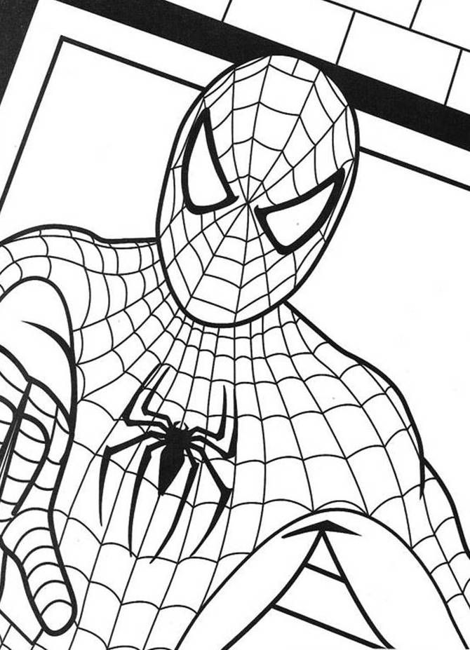 Spiderman colouring sheet Check out our other activity sheets   - best of baby superman coloring pages