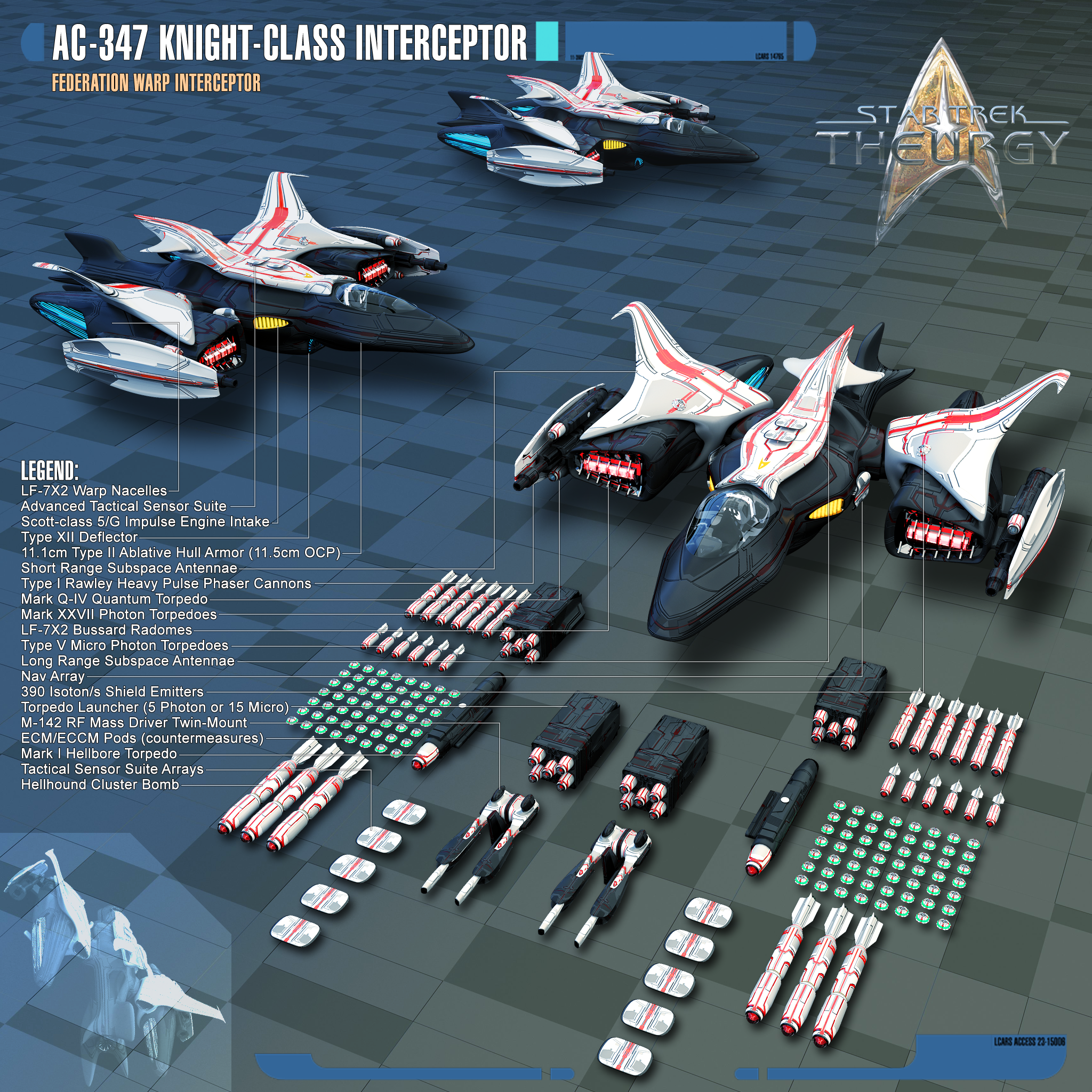 These are the space fighters the U S S  Calamity had in Star Trek