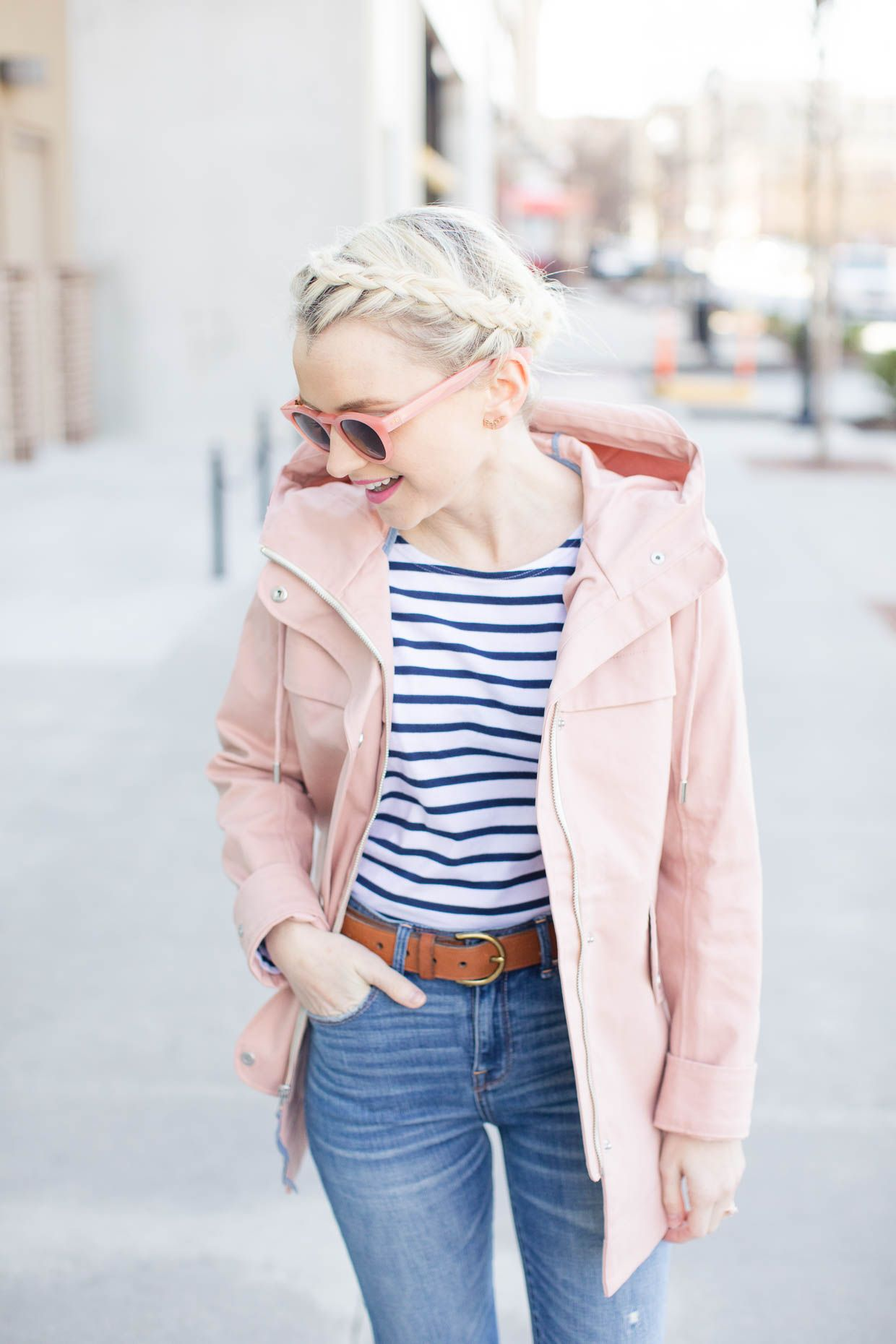 With spring right around the corner, Cathy shows how to style an  Abercrombie Pink Classic Raincoat with easy pieces from her wardrobe for  the new season!