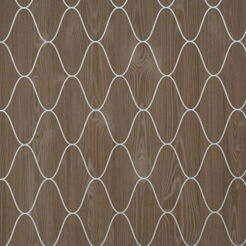 Graphic Wood Wallpaper In Brown And Silver Design By BD Wall