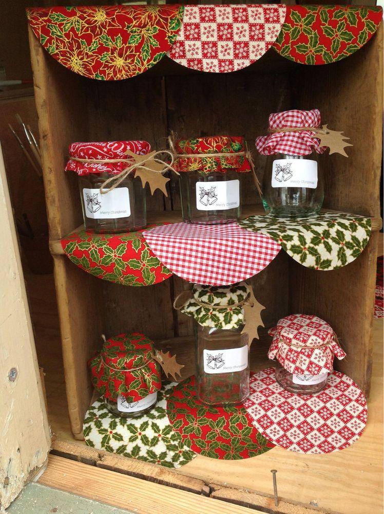 Christmas Jam Jar Covers With Matching Labels And Gift Tags Diy Jar Crafts Christmas Mason Jar Labels Jam Jar Crafts