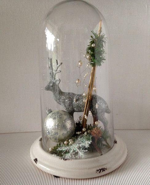 glassturz weihnachtlich dekoriert von einfachsch n auf weihnachten pinterest. Black Bedroom Furniture Sets. Home Design Ideas