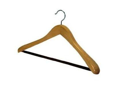 Natural Wood Hanger: just in case the one for the bride's dress is in cheap plastic...