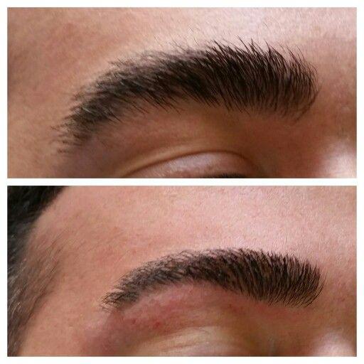 Male eyebrows threading