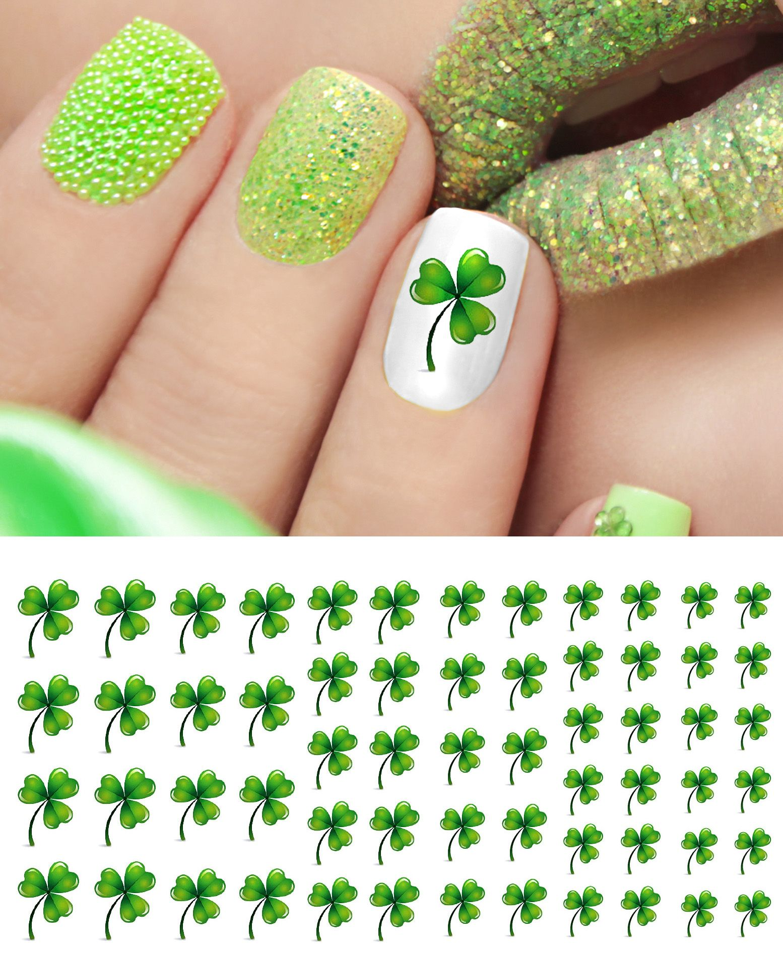 Pin By Moon Sugar Decals On St Patrick S Day Nail Art