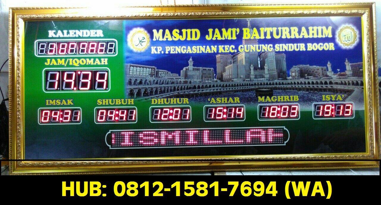 wa 0812 1581 7694 jam digital masjid di semarang jam digital rh pinterest com