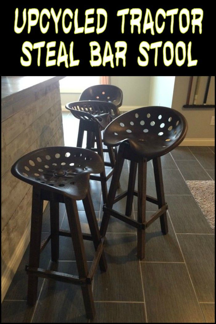 Upcycled Tractor Seat Bar Stool