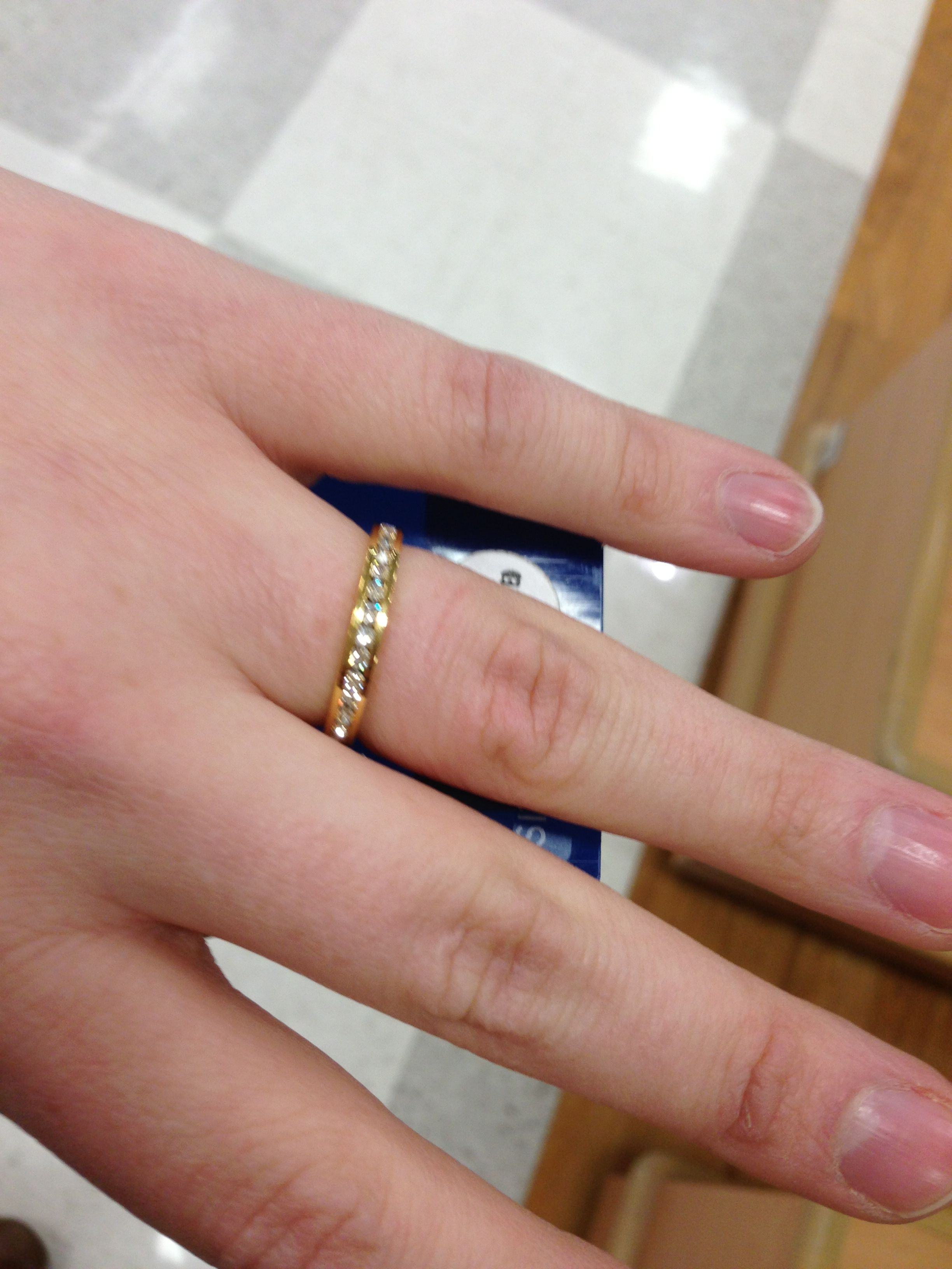 $9.99 Meijer ring... I think it looks pretty enough to ware forever ...