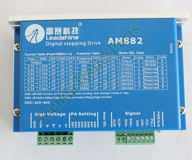 77.90$  Know more - http://aid4n.worlditems.win/all/product.php?id=32510509440 - Leadshine AM882 Digital Stepper Motor Drive 80VDC 0.1A - 8.2A Protect Function