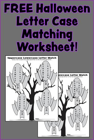 FREE Halloween Letter Case Matching Worksheet!