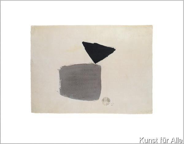 Julius Bissier - Viereck und Dreieck 4.10.48, 1948