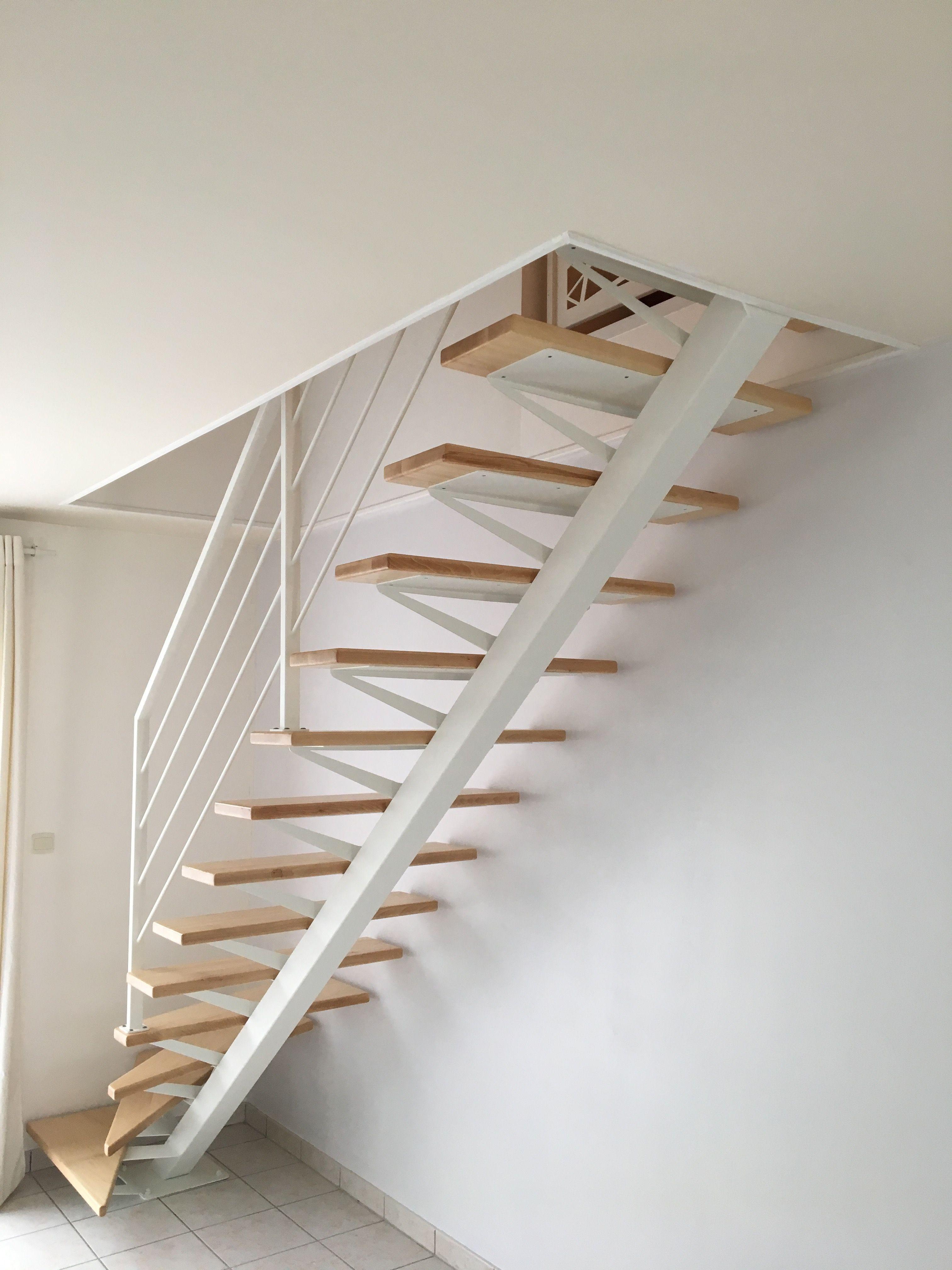 Escalier Limon Central Metal Blanc Escalier Blanc Escalier