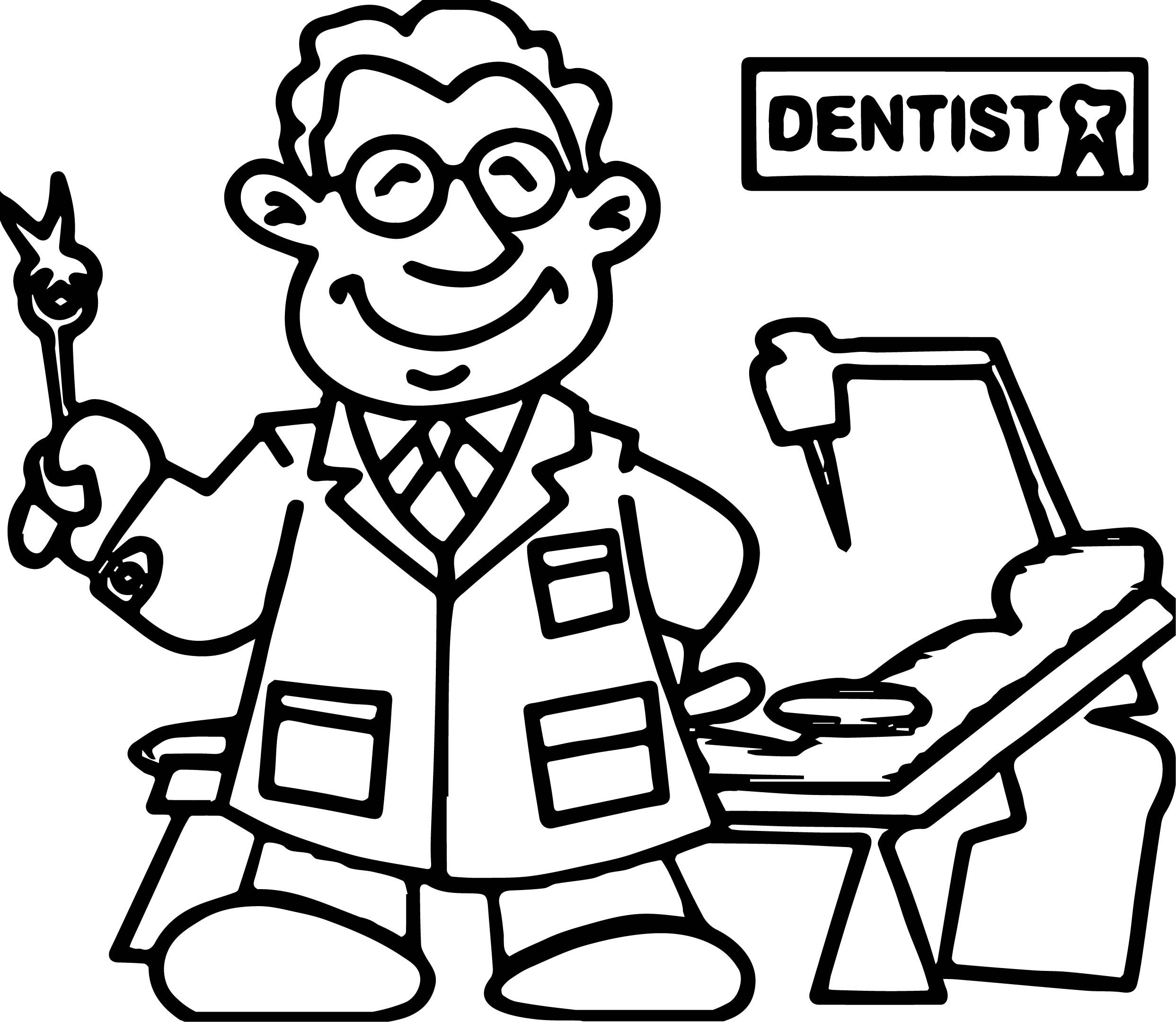 awesome Dental Dentist Doctor Man Coloring Page | Dentist ...