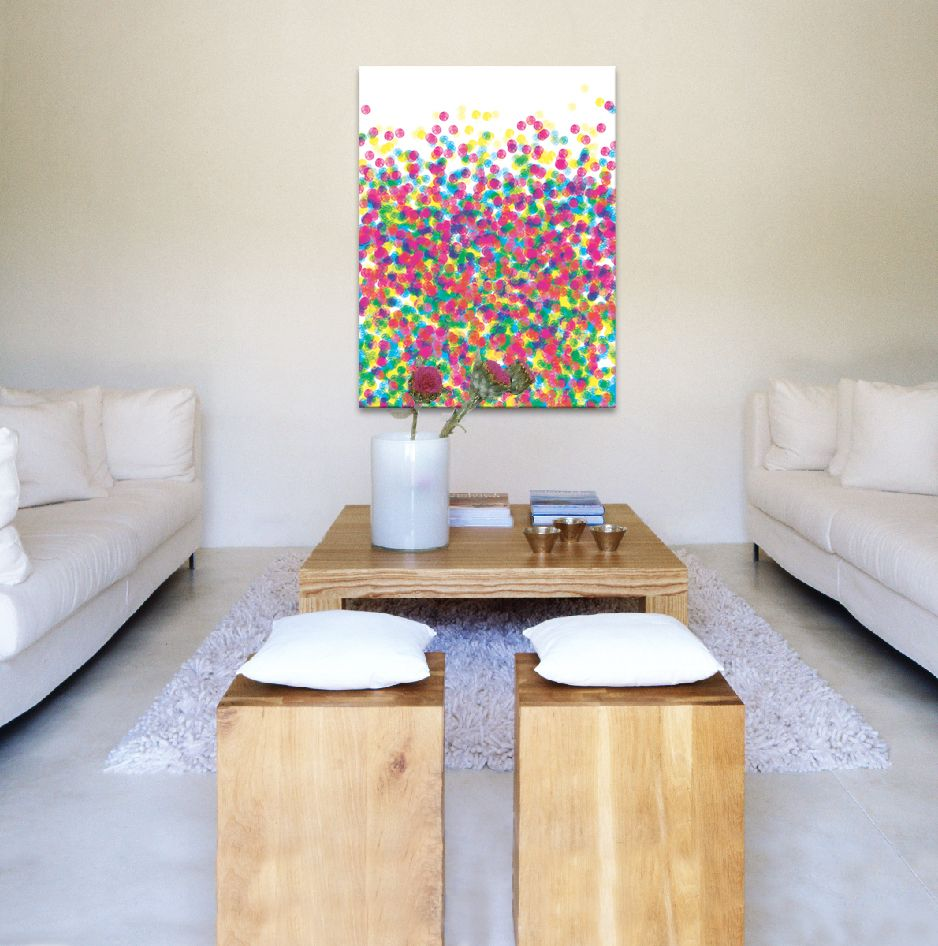 Love this art piece with the white decor