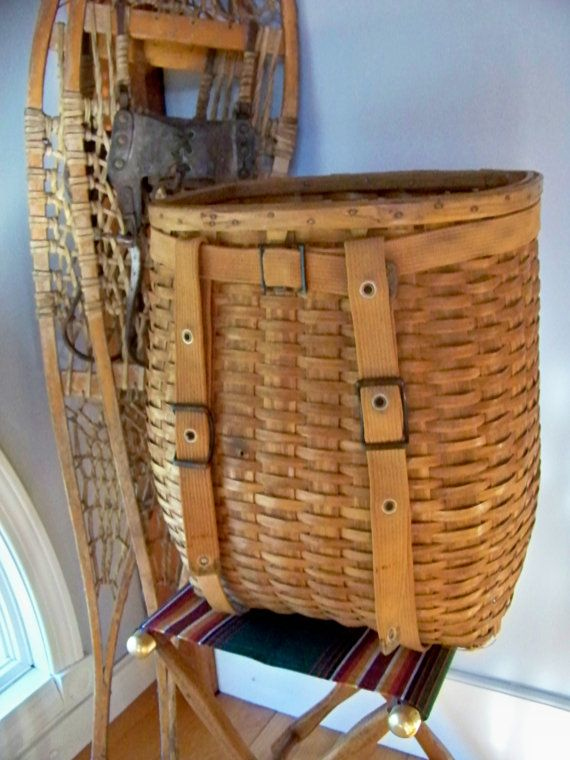 Trapper Pack Basket, Waxed Canvas: Hunting Packs & Bags | manly ...