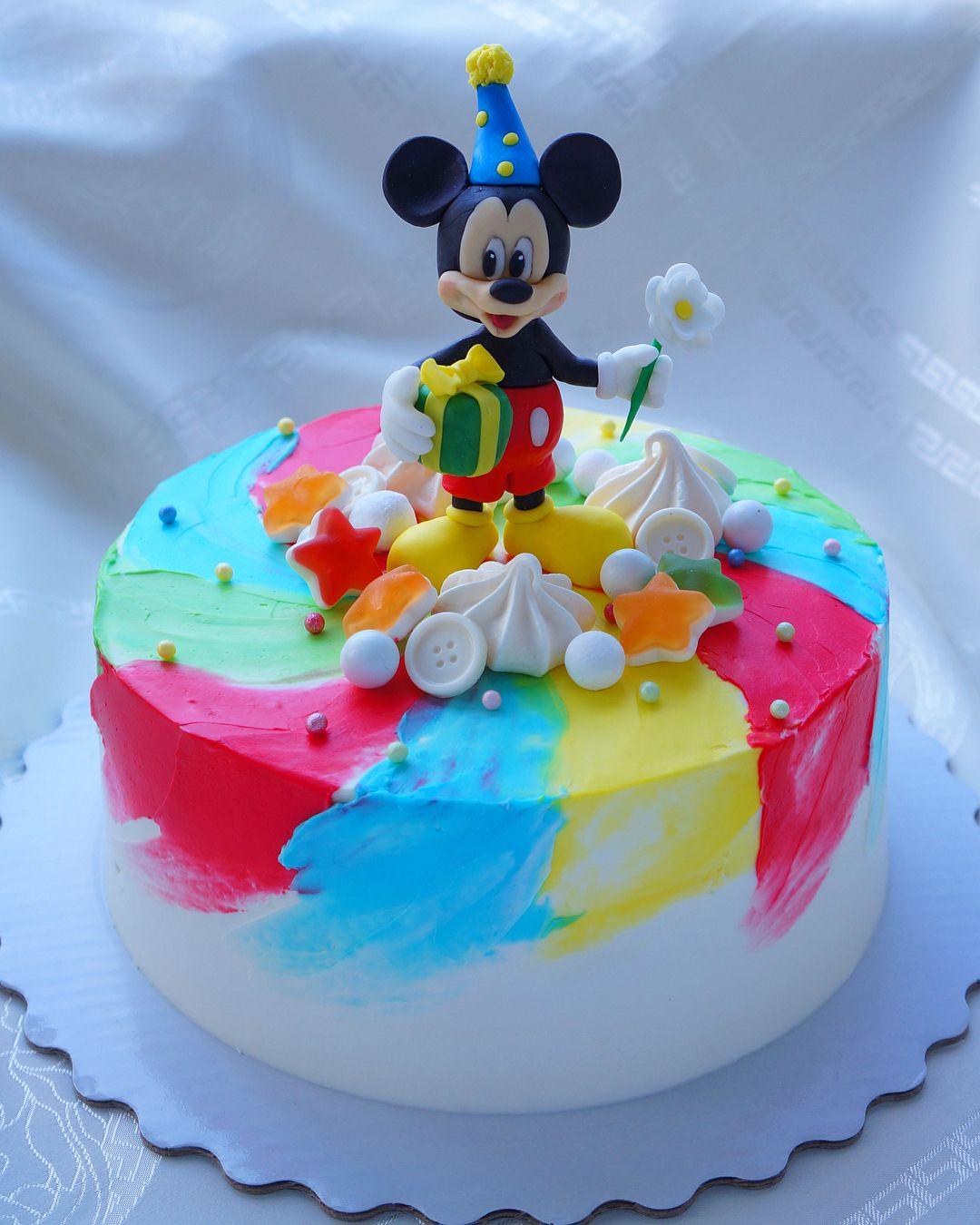 Совсем забыла показать такой детский тортик , покрытие из ...