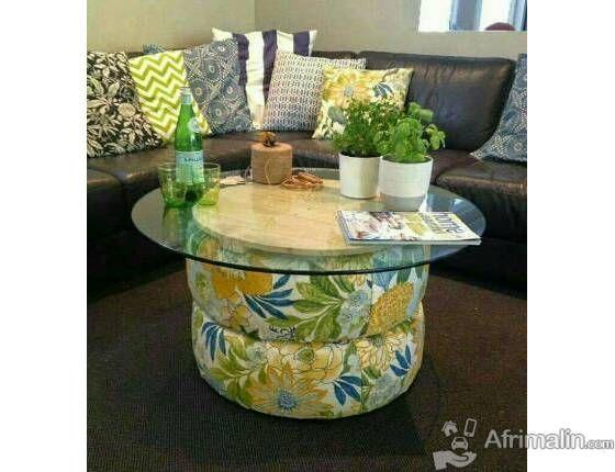 Tables Pour Maison Afrimalin Cote D Ivoire 50 000 Fcfa Bricolage Table Basse Recycler Des Pneus Meubles En Pneus