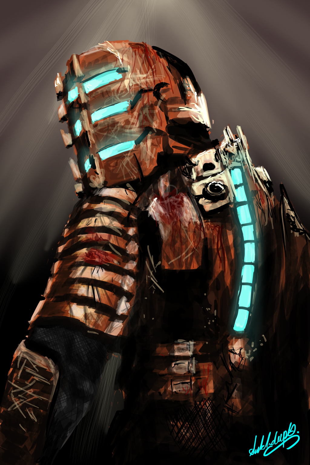 The Western Home Post 3 Isaac Clarke Dead Space Space Artwork Black Lagoon