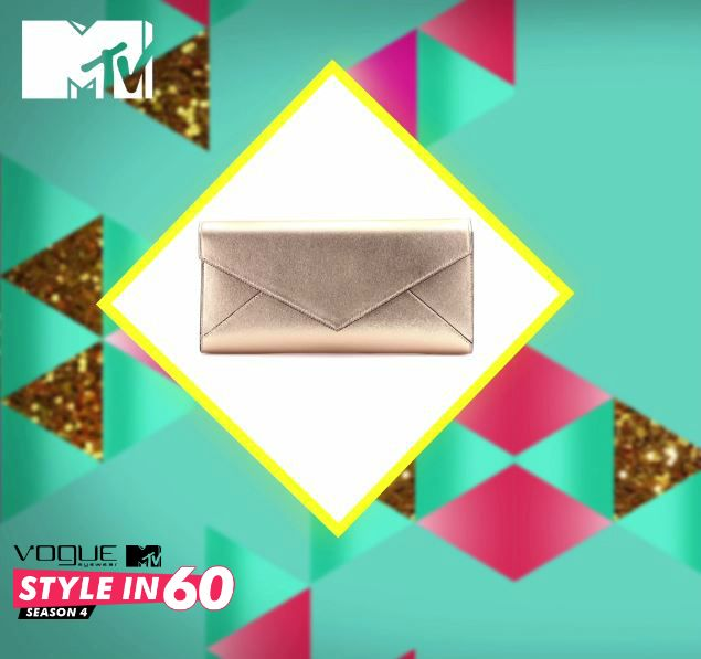 For an evening party, dress with a multi strand necklace and a metallic clutch. Simple yet sophisticated! For more style tips, watch Vogue Eyewear MTV #Stylein60: mtvindia.com/style
