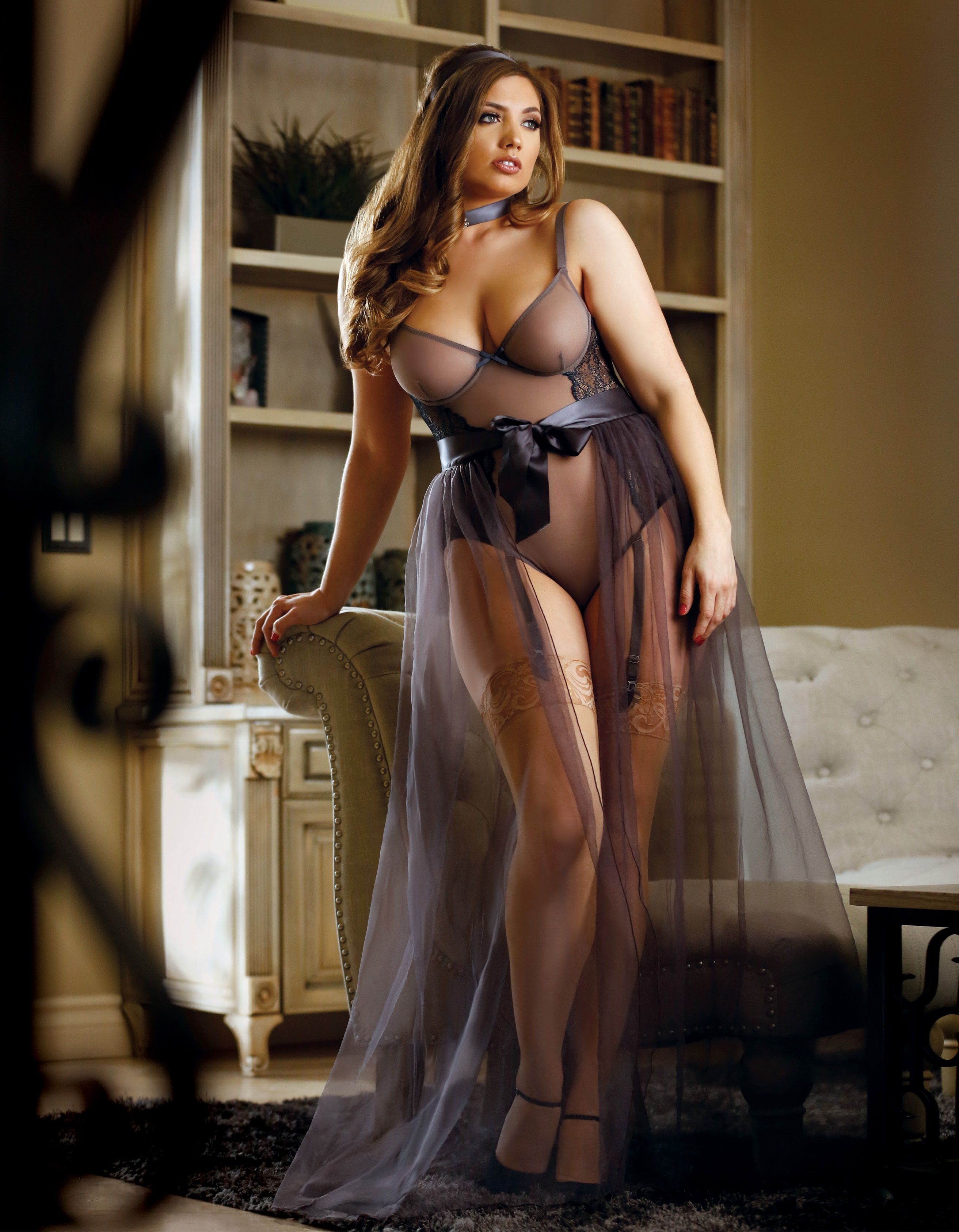 474584aeb3a Nicole Teddy with Garters. Nicole Teddy with Garters Plus Size Model