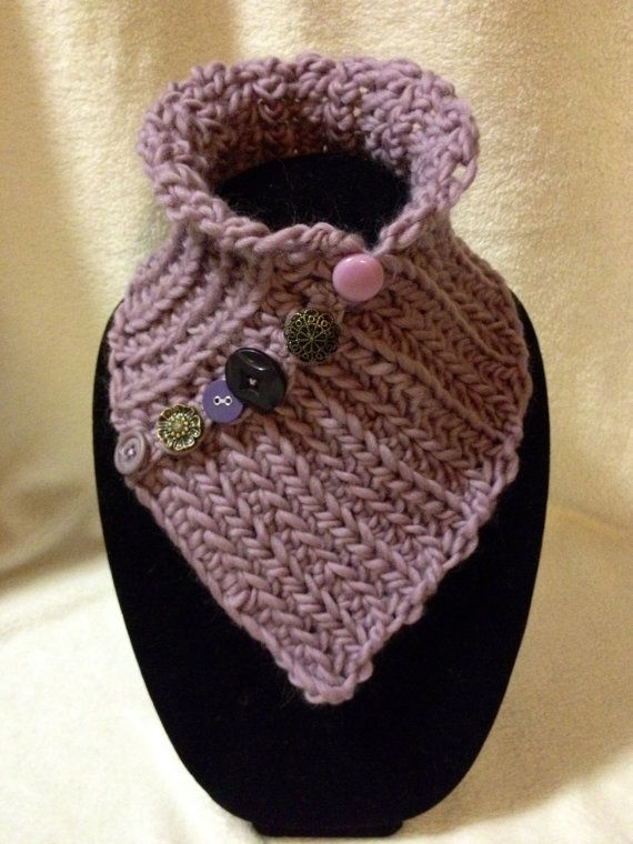 Hand Crocheted Purple Neck Cowl-Scarf-Warmer. by TwistedTatters