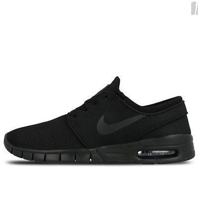 low priced 07e4a ceb43 Nike SB Stefan Janoski Max Mens 631303-007 Black Skateboarding Shoes Size 5
