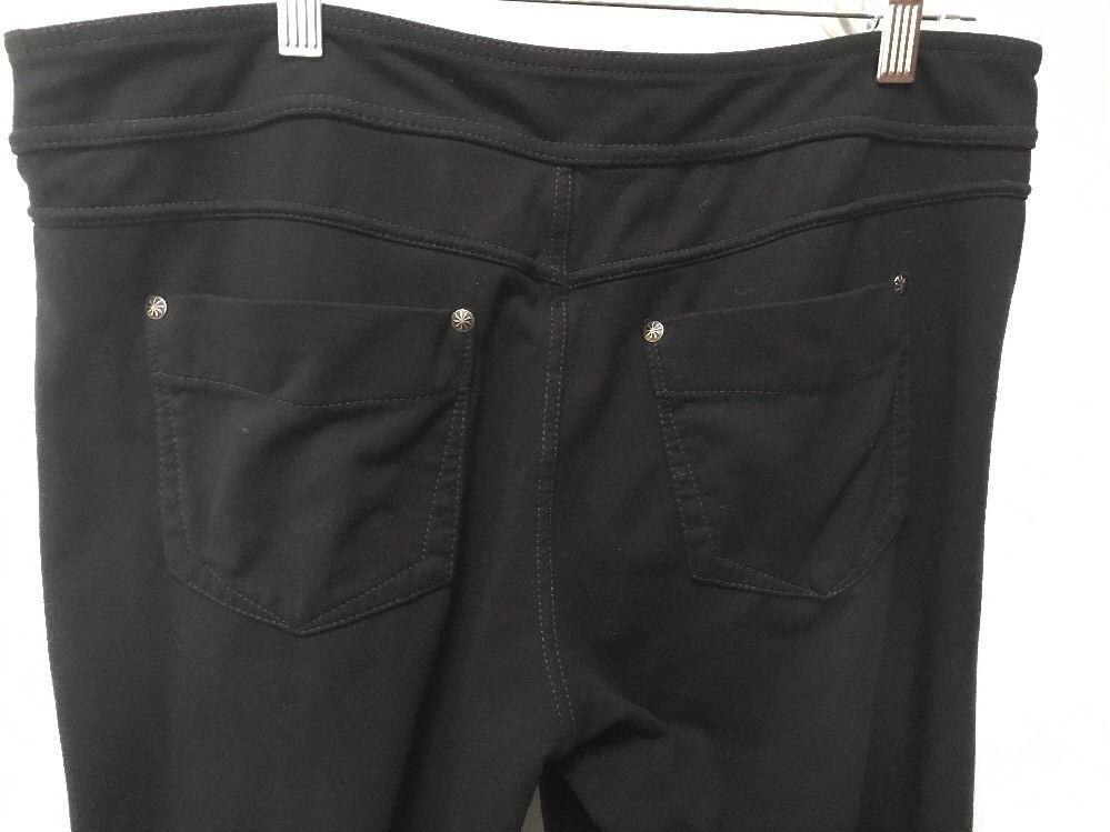 4ada327b61860 ATHLETA Bootcut YOGA PANTS XL Black Front Back Pockets #Athleta  #PantsTightsLeggings